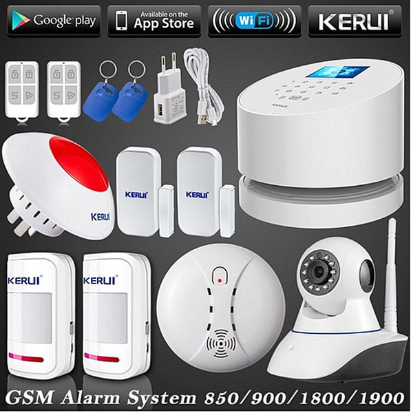 LS111- Wireless ip camera HD WiFi GSM PSTN RFID telephone LINE burglar Security Alarm System Wifi GSM home alarm kerui remote control