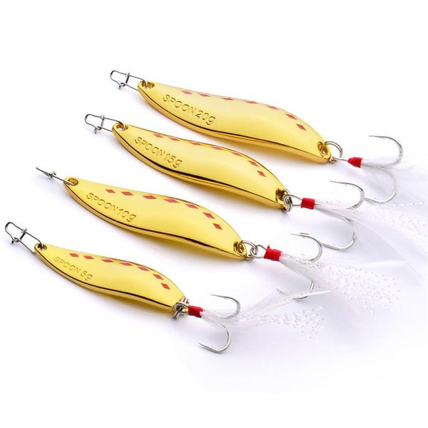 Hot Selling Brand Spoon Fishing Baits 5g 10g 15g 20g Silver/Gold Atificial Metal VIB Blades lure Spinner bait