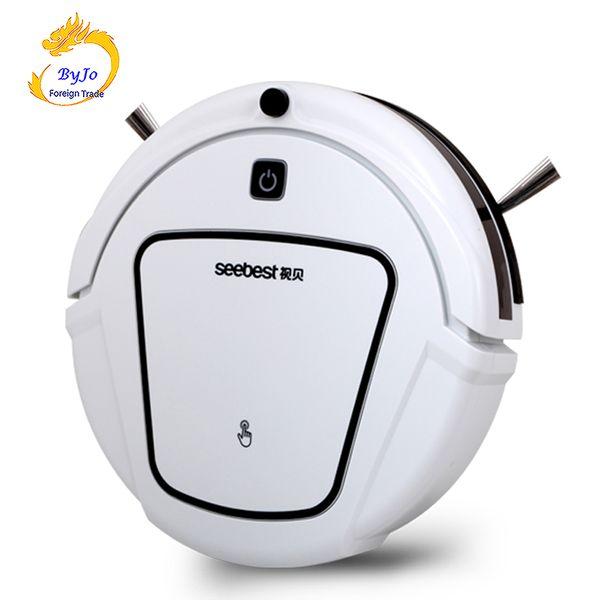 Seebest D720 Robot aspirador de limpieza en seco con cepillo de succión grande 2 lados Horario Horario Barrido Limpio MOMO 1.0