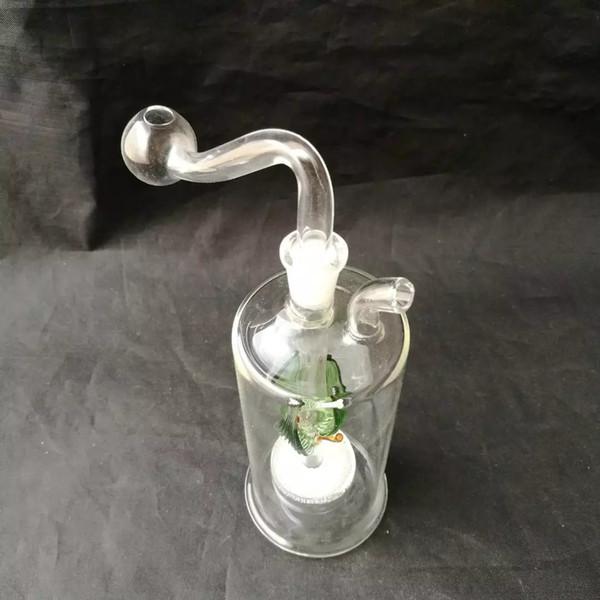 Neue Glas Sandkern Schalldämpfer, Großhandel Glas Bongs, Ölbrenner Glas Wasserleitungen, Rauchrohr Zubehör