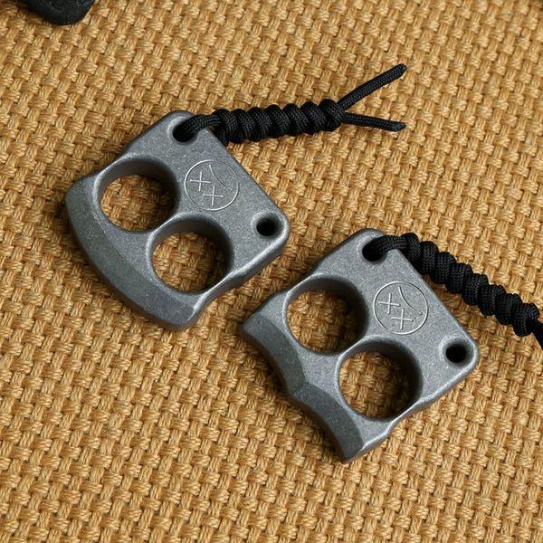 Andy Frankart DFK-Doppelfingerring TC4 Titanium Self Defense Schlagdolche Außenschnalle Survival-Tasche EDC Knuck Knuckles Multi-Tools