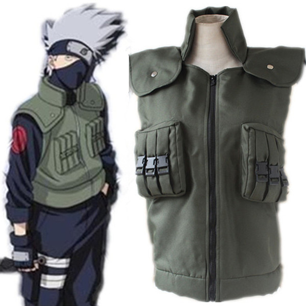 best selling Hatake Kakashi cosplay costumes vest Naruto Shippuden vest Japanese anime Naruto clothing halloween costumes Masquerade costumes