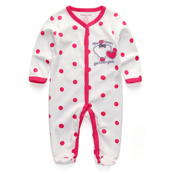 2017 New Baby Clothing Newborn Baby Boy Girl Romper Clothes Long Sleeve Infant Product
