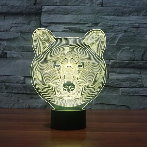 LED 3D Compre Hogar Hogar Luz es Luz Iluminación De El Oso Para Del Táctil Noche Mesa Cambiar Iluminación Lámpara Accesorios Interruptor Escritorio zVqpSMGU
