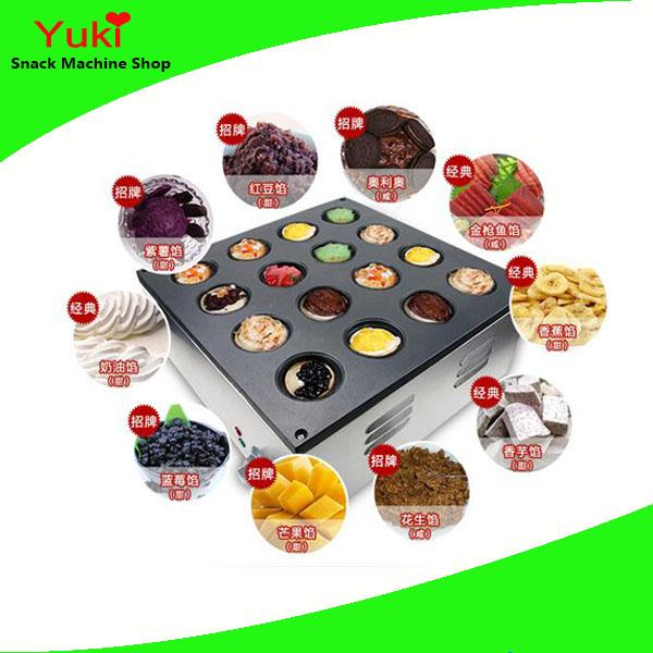 Commercial 16 Holes Electric Wheel Cake Machine Taiwan Red Bean Cake MachineSmall Cake Making Machine for sale