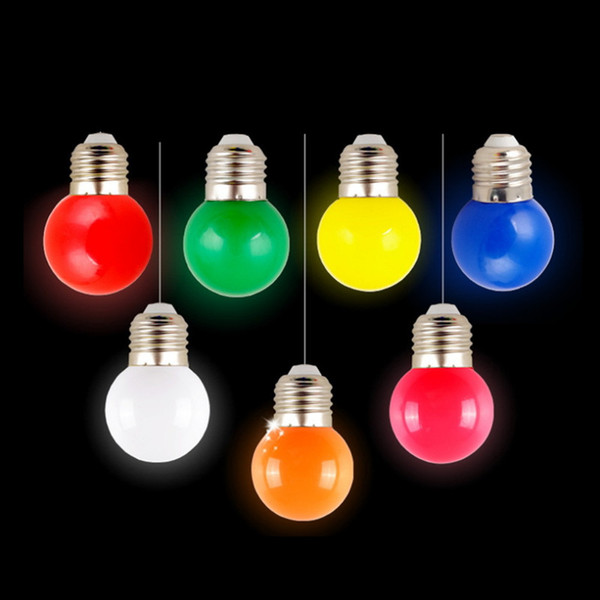 Free shipping Home Lighting Colorful Led Bulb Ampoule E27 3W Energy Saving Light Red Orange Yellow Green Blue Milk Pink Lamp Smd2835 85-265V