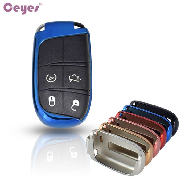 Car key remote shell TPU Key Cover for Dodge Chrysler 300C Jeep Grand Cherokee Compass Patriot Journey Key Shell Car Styling