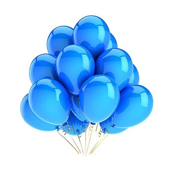 100Pcs 12Inch Pearl Latex Balloons For Wedding Birthday Party Decoration Balloons Toy For Kids Having Fun (Navy Blue )