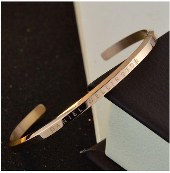 nouveau bracelet dw bracelets manchette or rose argent bracelet 100% en acier inoxydable Bracelet pulsera