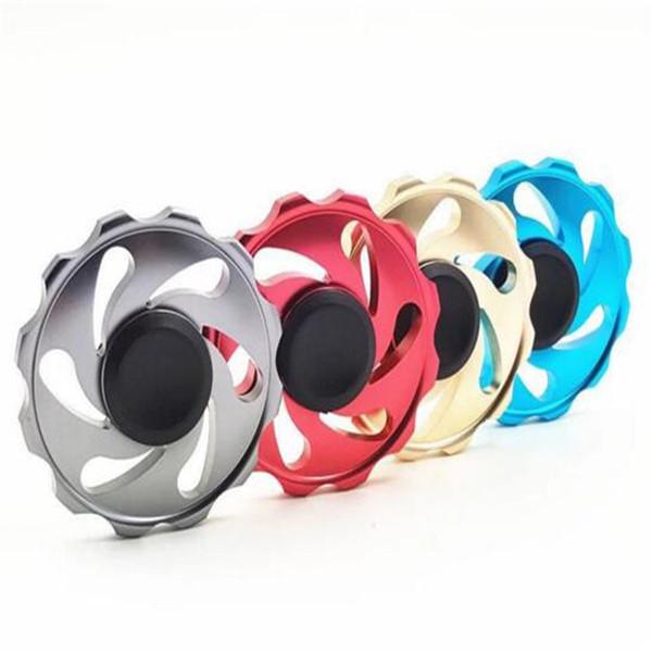EDC Rainbow Alumínio Alloy Rings Roda Fantástica Mão Fidget Finger Spinner Gyro Brinquedos Novidade Mordaça Descompressão Adultos Brinquedos para Crianças 2017