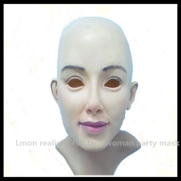 Top Grade 100% Latex Cross Dressing Party Mask Rubber Latex Halloween Female Mask Wholesaler Realistic Female Mask Free Shipping