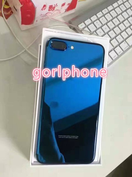 100% Real zg 24ct shiny gold blue for iphone7 plus OEM customized design housing back door case OEM 24K gold plated cell phone case luxury