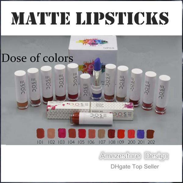 2016 New Dose Of Colors Liquid Matte Lipstick Waterproof Lip Gloss Lipgloss various colors Free shipping
