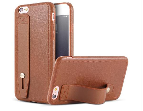 50 pcs estilo de negócios por atacado super fino pu couro kickstand capa titular case para iphone 6 6 plus fpr iphone 7 7 plus telefone macio case