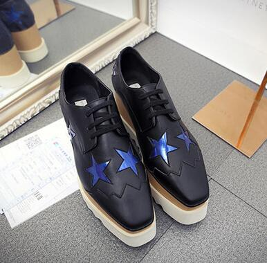 black with blue star