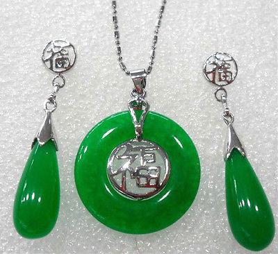 Atacado barato 8 cores! fantasia jade verde / roxo / preto ágata abençoe pingente de sorte brinco / anel