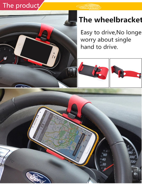 Universal Mobile Phone Holder Car Steering Wheel Clip Car Phone Holder For Smartphone 50pcs/lot By DHL Free Shipping