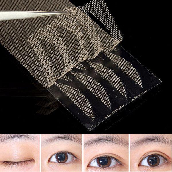 Toptan Satış - Toptan-120pcs / Set Göz Kapağı Etiketler Çift Göz Kapağı Bantları Dar Çift Yan Yapıştırıcı Teknik Nefes Kozmetik Aksesuarları