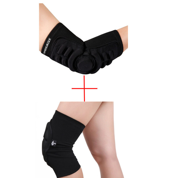 Wholesale- Sponge Knee Pads Elbow Pads Skiing Knee Protective Gears MTB Cycling Protection Downhill Motorcycle Elbow Skateboard Protector