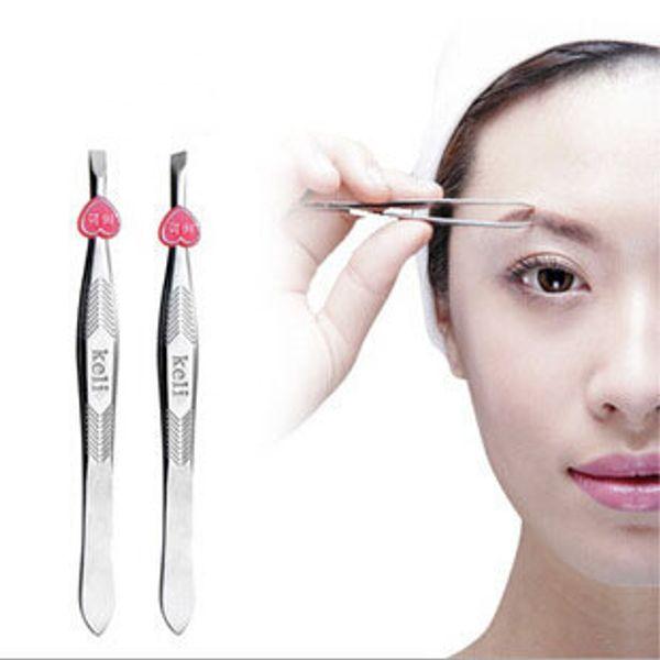 Wholesale- Makeup Tools Eyebrow Tweezers 2pcs/set Clamps eye-brow Shaping Lashes Curler
