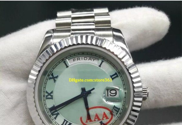 luxury watches Luxury watch automatic DAY date Silver wristwatch 41mm sapphire glass aaa stainless steel will not fade rep watches
