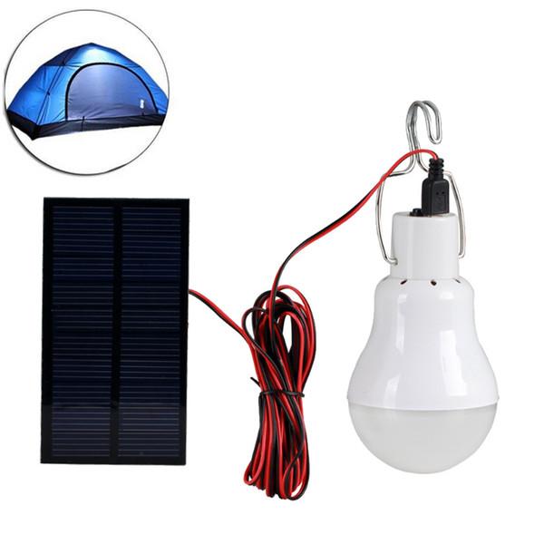 top popular Solar Lamp Powered Portable Led Bulb Lamp Solar Energy Lamp Led Lighting Solar Panel Camp Night Travel 2019