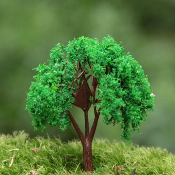 Commercio all'ingrosso ~ 24 Pz / albero artificiale / miniature / rosa / piante carine / fairy garden gnome / muschio terrarium decor / artigianato / bonsai / bottiglia giardino