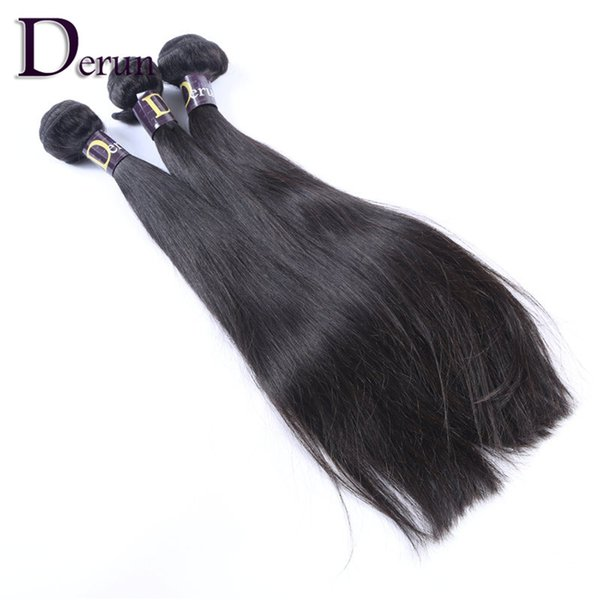 Super Sale!Mix 3pcs 10-30inches Brazilian Human Hair Weft Extension Natural Color Straight Hair Weave No shedding,No Tangling