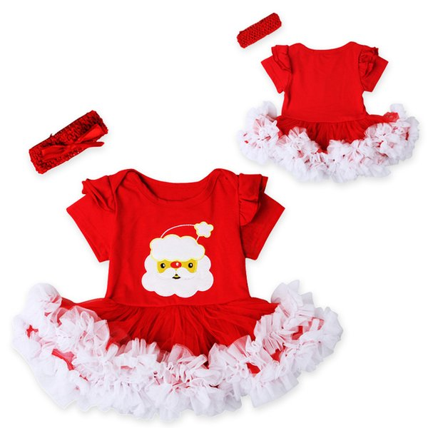 Atacado- Moda Natal Infantil Vestido Da Menina Do Bebê Meninas Roupas Conjuntos 2 pcs Recém-nascidos Do Laço Tutu Vestido DS26