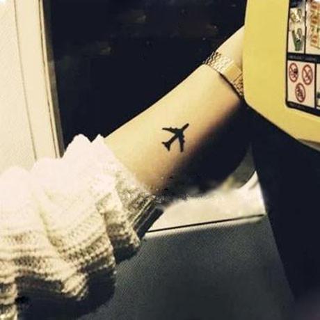 Atacado- (Min encomendar US $ 0.5) à prova d 'água tatuagem temporária tatoo henna falso flash tatuagem adesivos Taty tatto amantes avião SYA014