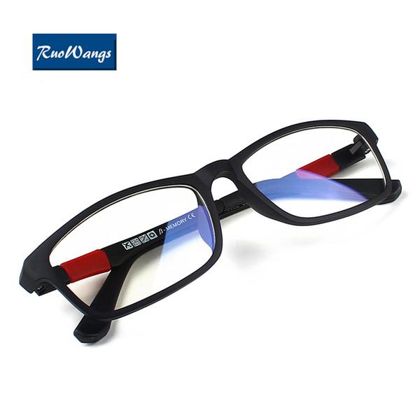 Großhandels-RuoWangs Oculos de Grau Eyewear optische Brillenfassungen Brillen Brillen Männer Brillengestell Brille Frauen Brillen Marke