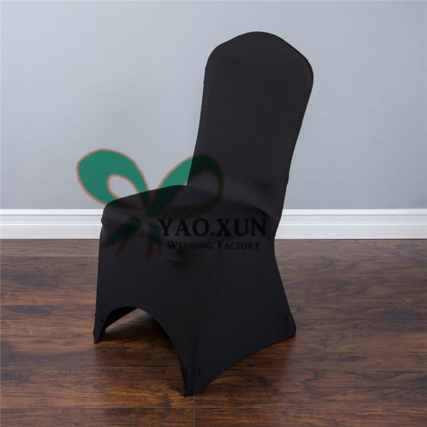 50pcs Black Color Lycra Spandex Chair Cover For Wedding Decoration