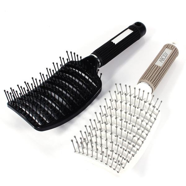 Wholesale- Bend Hair Comb Brush Anti-static Curved Vent Hair Comb Massager Hairbrush Salon Hairdressing Tool Barber Salon Hair Styling