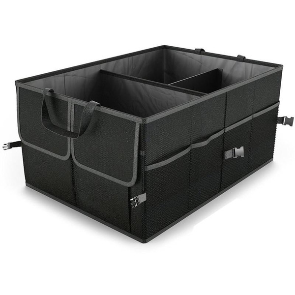 Nero pieghevole auto bagagliaio organizzatore camion carico strumenti portatili pieghevole custodia custodia caso risparmio di spazio auto boot organizer