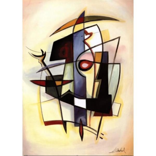 Arte moderno abstracto City Dynamics III-Alfred Gockel pinturas al óleo Lienzo pintado a mano