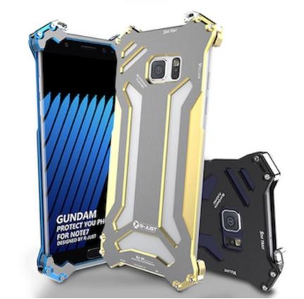 Phone Shell Case Metal Aluminum Frame Gundam Climbing phone Case for Samsung Galaxy Note 7with film