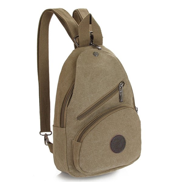 Wholesale- New Style Women Backpack Unisex Chest Bags Small Canvas Backpack For Women and Men Travel Bag PT989