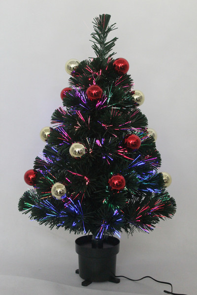 Fibre Optic Christmas Tree With Baubles.2ft Mini Green Fibre Optic Artificial Decorative Shiny Baubles Christmas Tree Indoor Use 3 X Aa Battery Or Usb Operated Newest Christmas Decorations