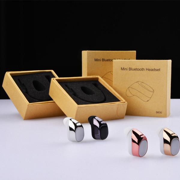 S630 Mini Stereo Bluetooth 4.1 Auriculares Manos Libres Auriculares Deportivos para el Teléfono con Micrófono Auriculares Para Iphone 5 6 7 Plus xiaomi huawei