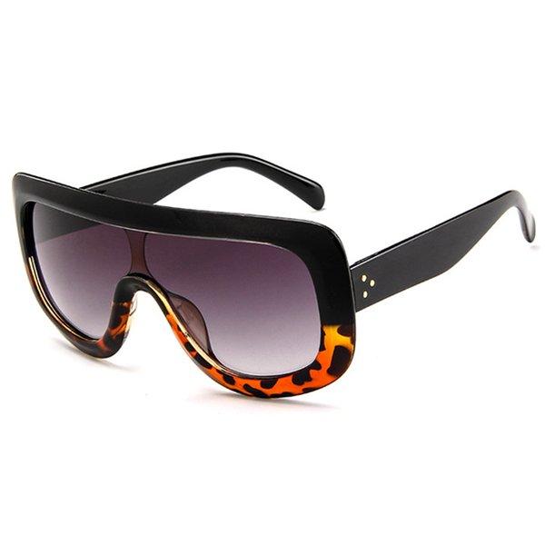Black Leopard Frame Grey Lens