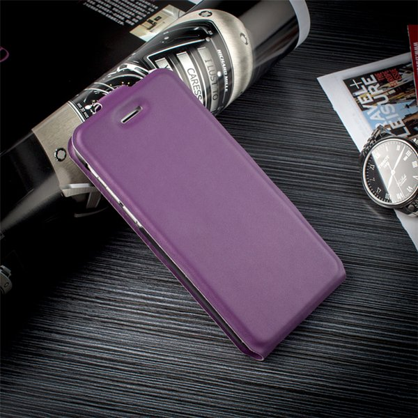 Ultra Thin Slim Book Style Up And Down Protective Case Flip Leather Phone Cover Case for iPhone 5