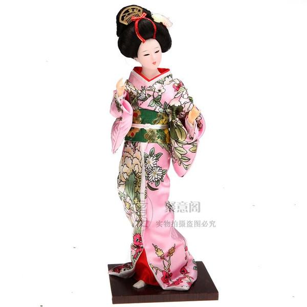Japanese kimono doll doll ornaments decorations Japan geisha silk crafts Tang Fang