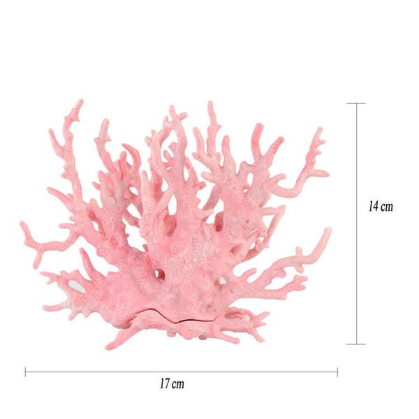 Coral artificial Aqua plantas acuáticas coral falso acuario de agua de mar software de paisajismo coral