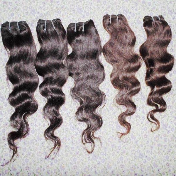 Niedriger Preis des preiswertesten Haares 5bundles / lot Körperwelle peruanisches verarbeitetes Menschenhaar spinnt farbige Schüsse