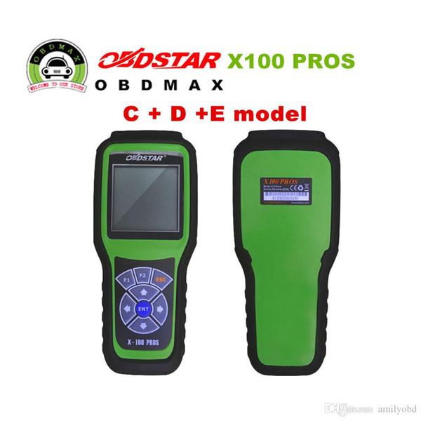 2017 Hot Sael OBDStar Programmatore Chiave Auto X100 PROS C + D + E modello x-100 pro strumento di correzione Contachilometri Spedizione Gratuita