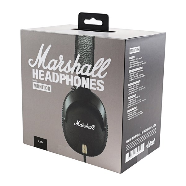 Top Auriculares con cable Monitor Marshall con micrófono Deep Bass DJ Hifi Auriculares Profesional con cancelación de ruido Deporte Auriculares Auriculares Diadema gratis