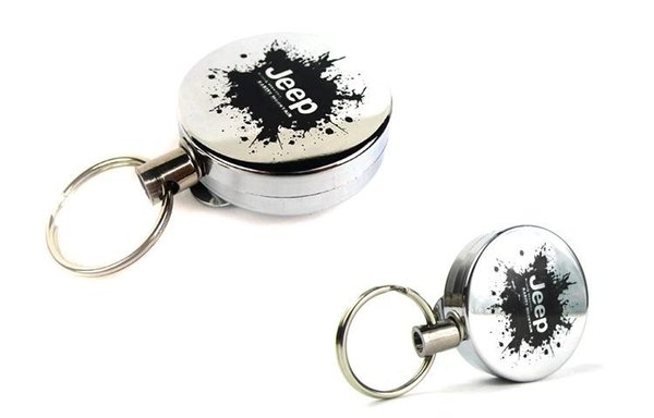High Resilience retractable rope key ring anti lost alarm anti lost keychain key chain retractable pull reel