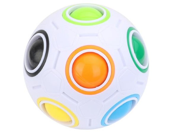 Regenbogen Ball Zauberwürfel Geschwindigkeit Fußball Spaß Kreative Kugelpuzzles Kinder Pädagogisches Lernen Spielzeug spiel für Kinder Weihnachtsgeschenke B732