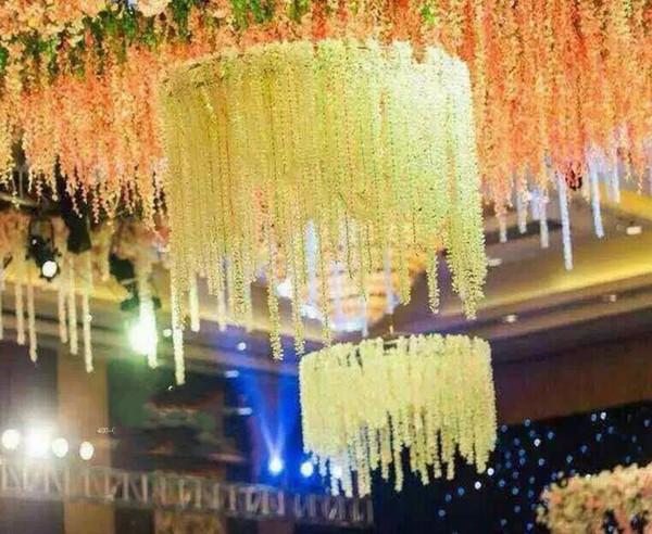 2 M lange künstliche weiße cattleya Orchideenschnüre, die silk Blumenblumengesteckhochzeitsrequisiten wholesale 100pcs / lot wedding sind
