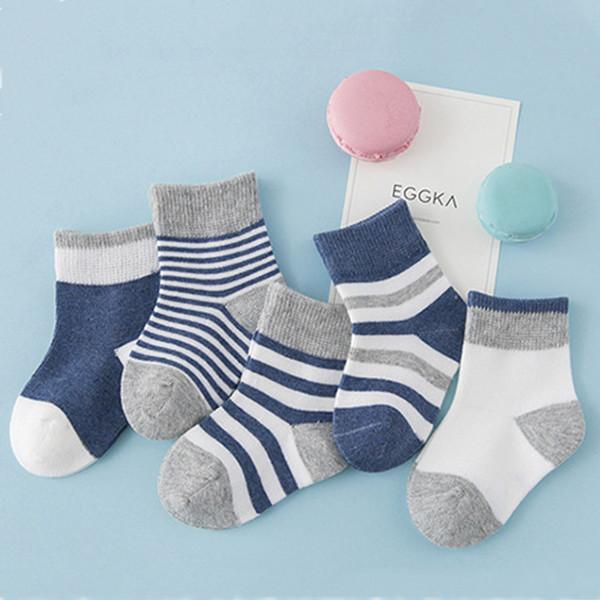 Baby Socks Kids For Girls Newborn Winter Cotton Striped Tube Warm
